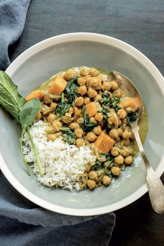 Cari de pois chiches et de légumes
