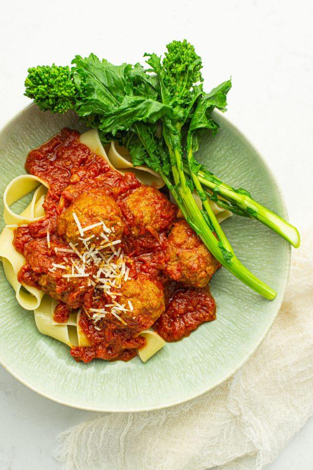 Boulettes de veau et sauce tomate (Polpette Marcovecchio)