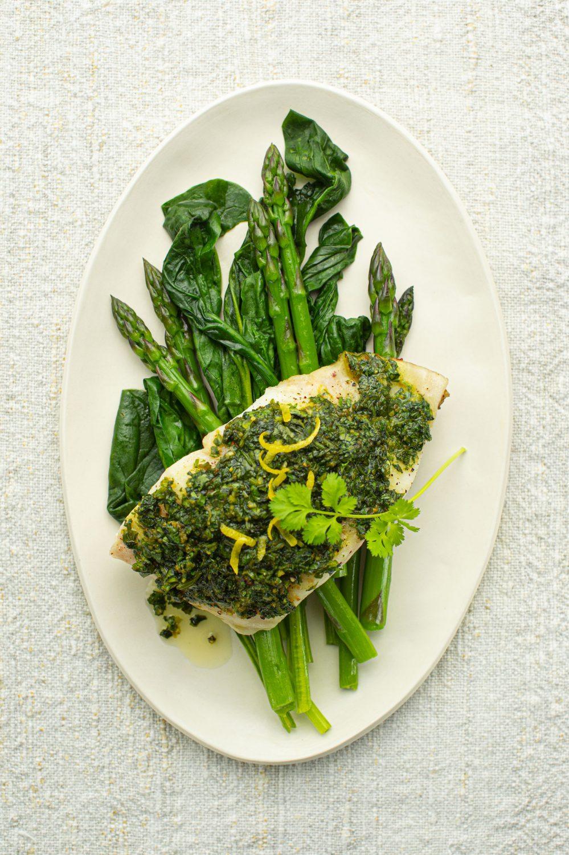 Filet de poisson blanc à la coriandre fraîche