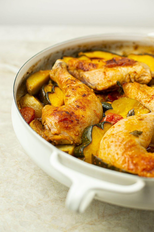 Casserole de poulet et légumes à la portugaise