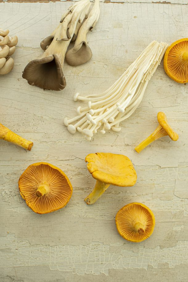 Spaghetti carbonara et champignons