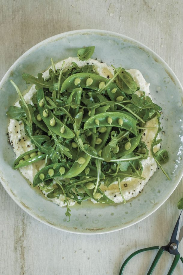 Salade croquante de pois sucrés