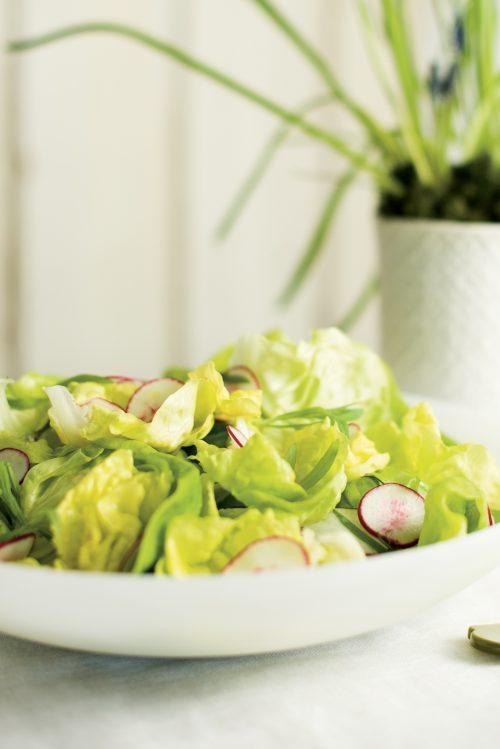 Verdure à l'estragon et vinaigrette au pamplemousse