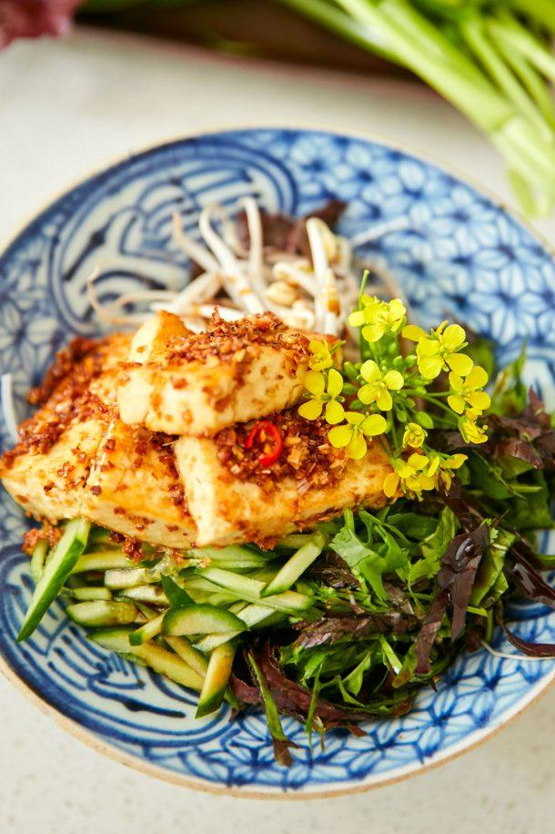 Vermicelles de tofu aux légumes