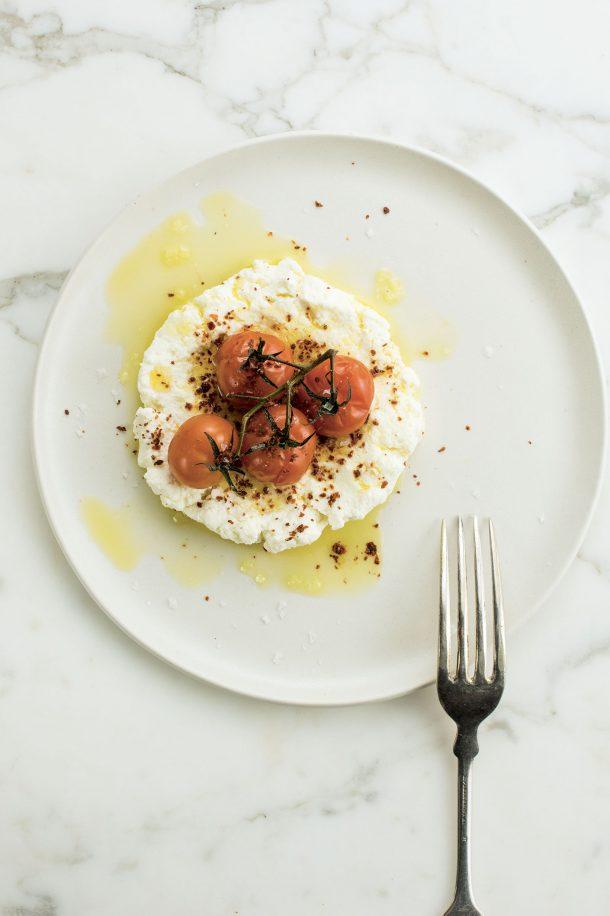 Ricotta et tomates confites