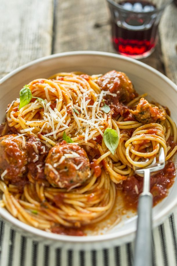 Boulettes de dinde et sauce tomate