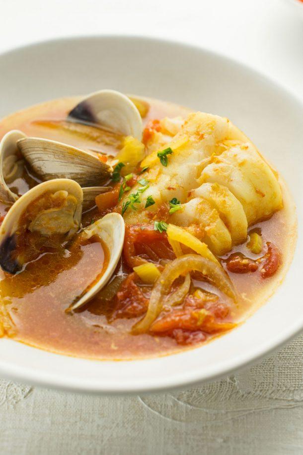 Marmite de poissons et de coquillages