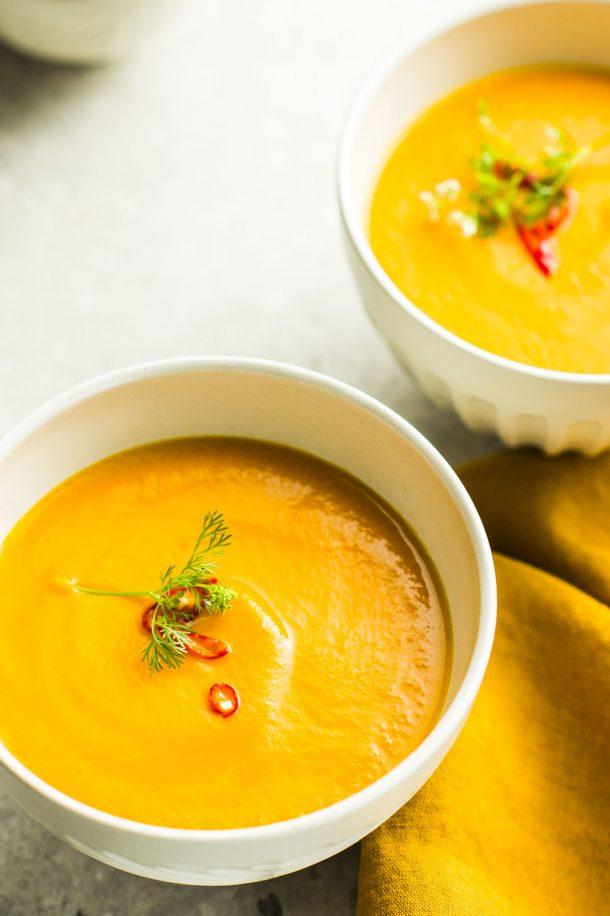 Soupe thaïe aux carottes