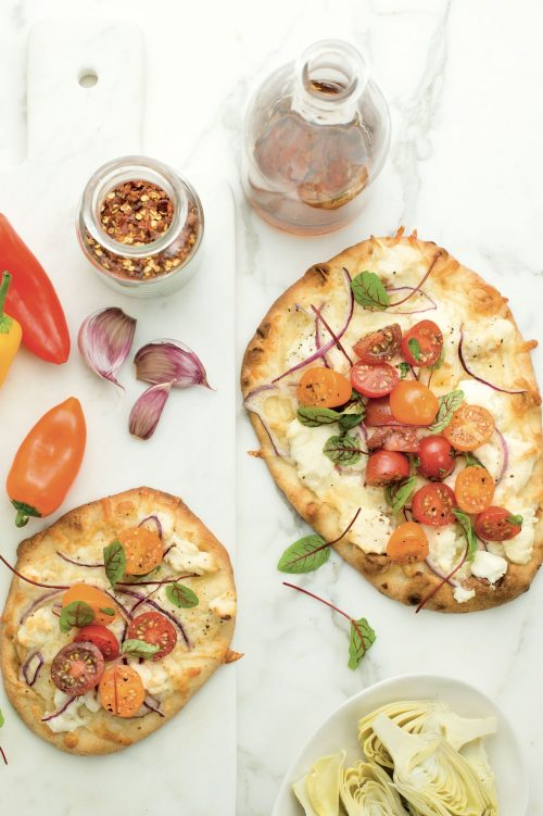 Pizza au pain naan
