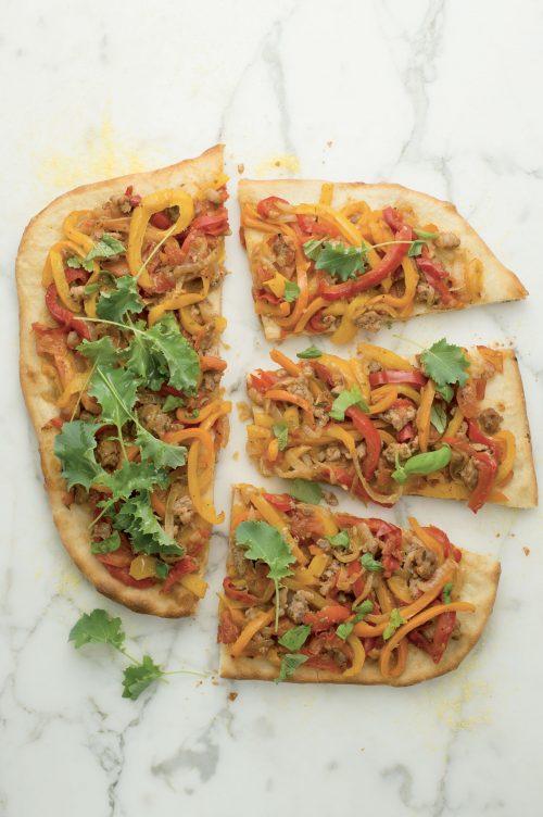 Pizza à la peperonata