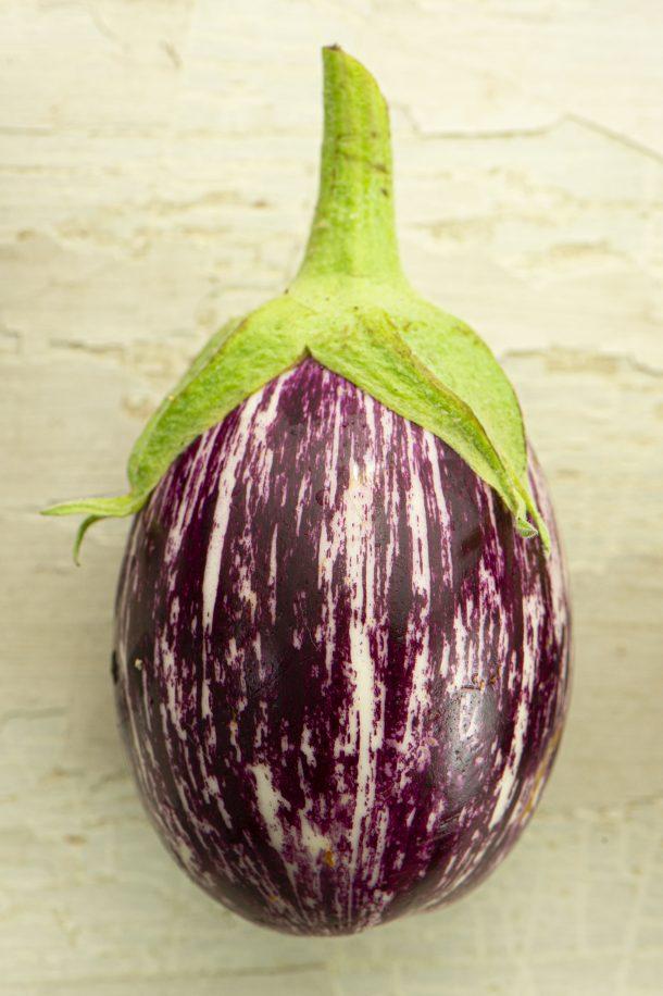Purée d'aubergine rôtie