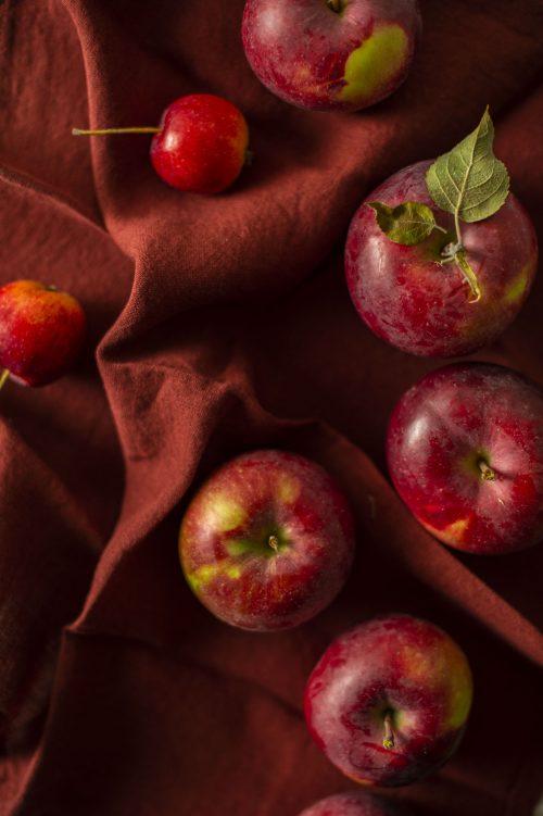 Salade de chou, pommes et légumes racines