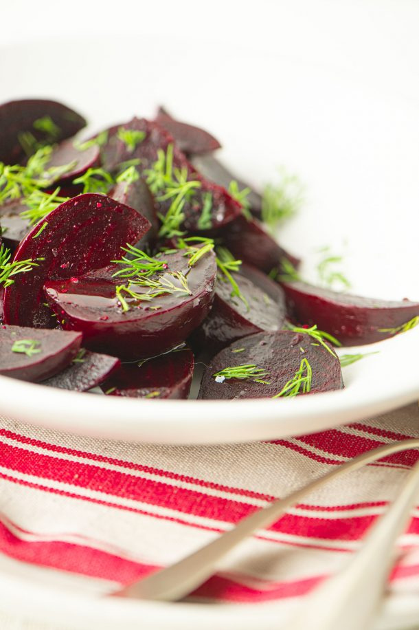 Salade de betteraves marinées