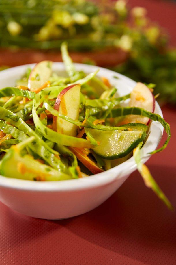 Salade de chou colorée