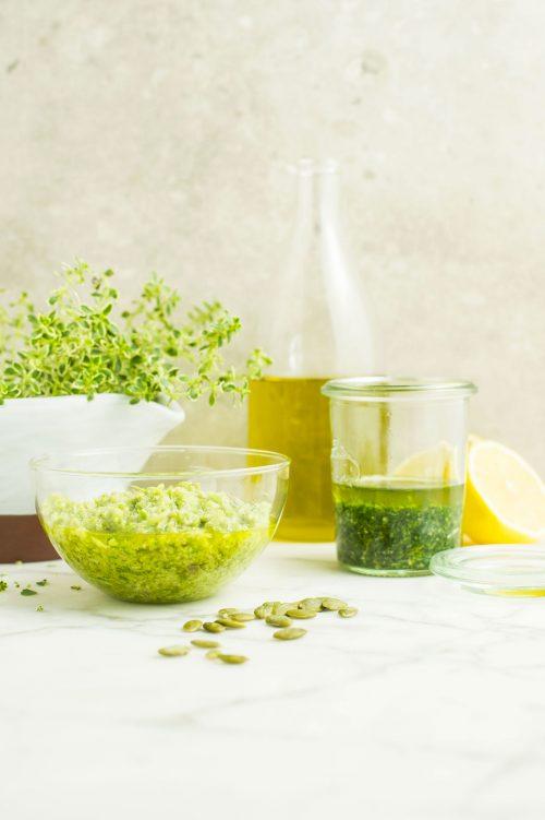 Pesto de persil et citron