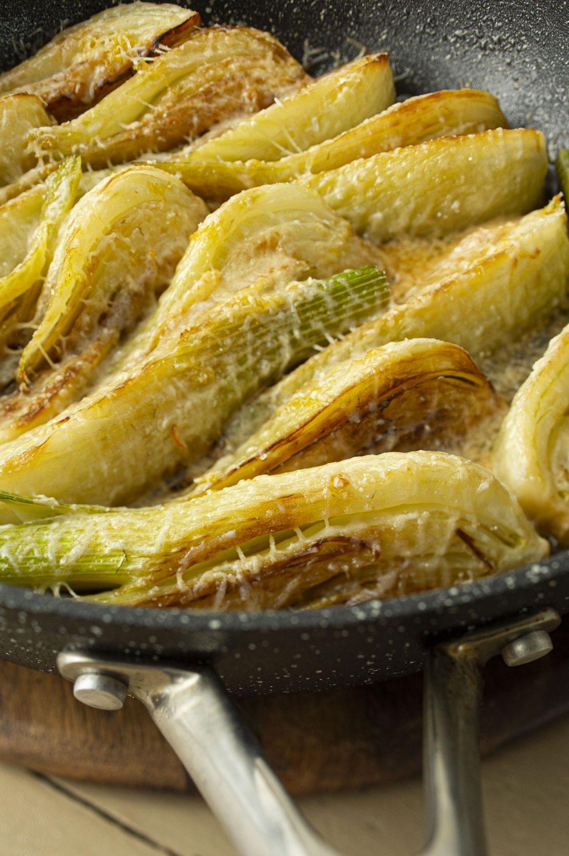 Fenouils gratinés au parmesan