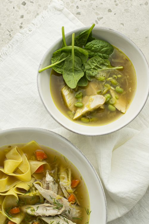 Soupe poulet et nouilles