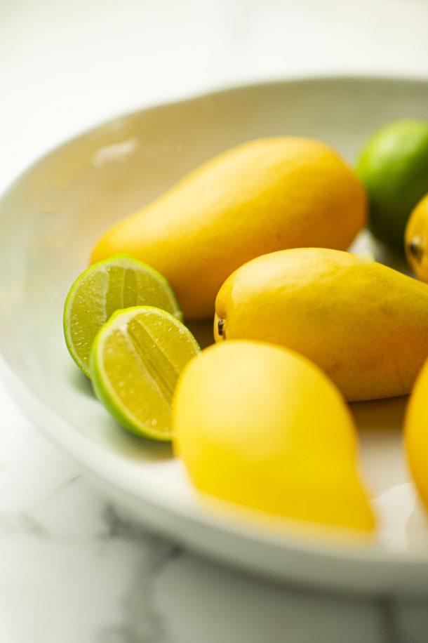 Sauce crémeuse mangue et coriandre