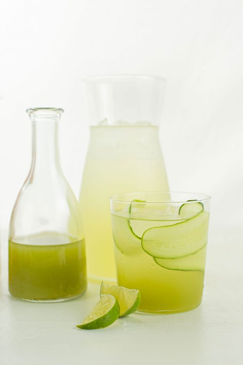 Sirop de concombre, lime et menthe