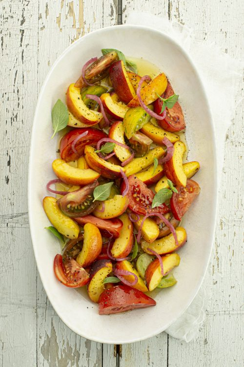 Salade pêches et tomates