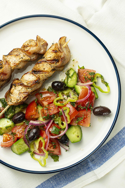 Brochettes de poulet à la grecque
