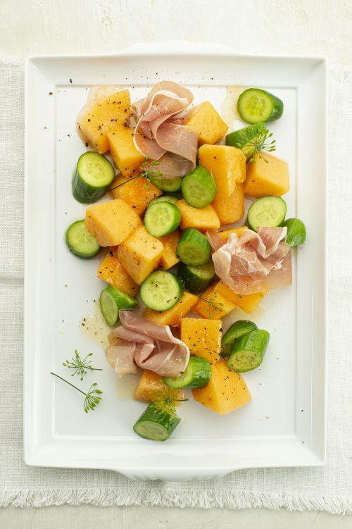 Salade d'été de cantaloup et feta