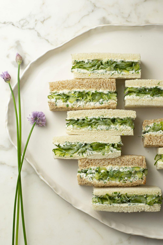 Sandwichs aux concombres