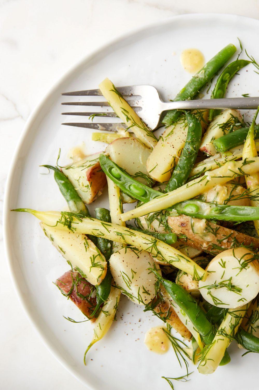 Salade de pommes de terre grelots et haricots