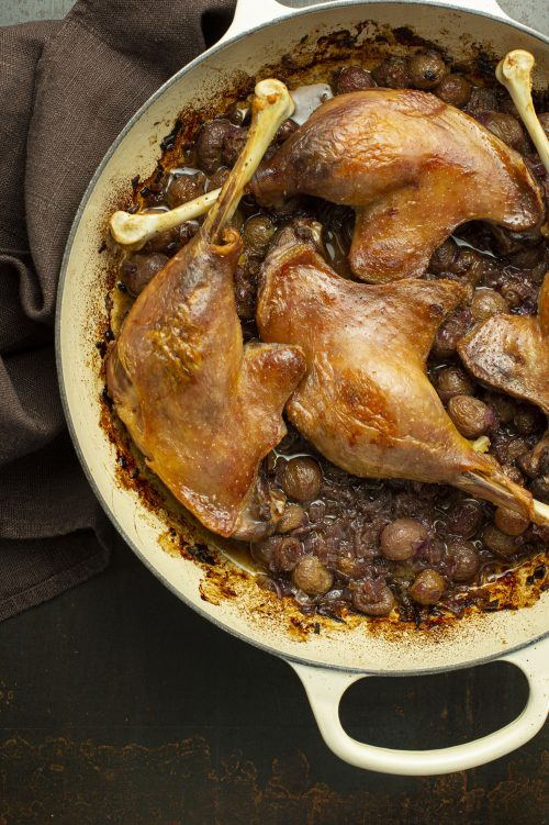 Cuisses de canard confites aux raisins