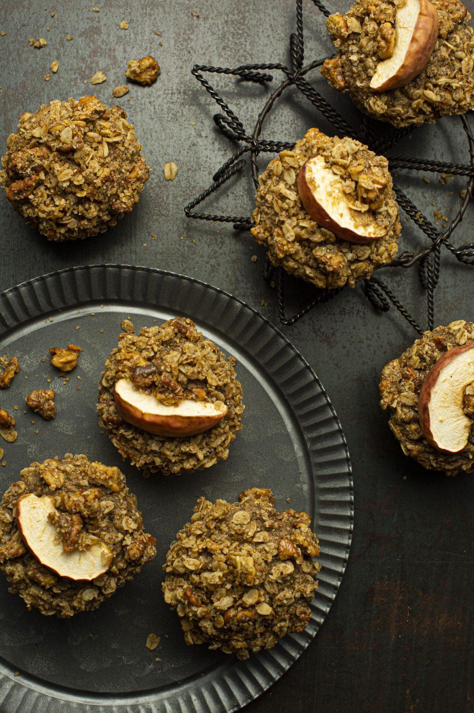 Muffins crumble aux pommes et avoine