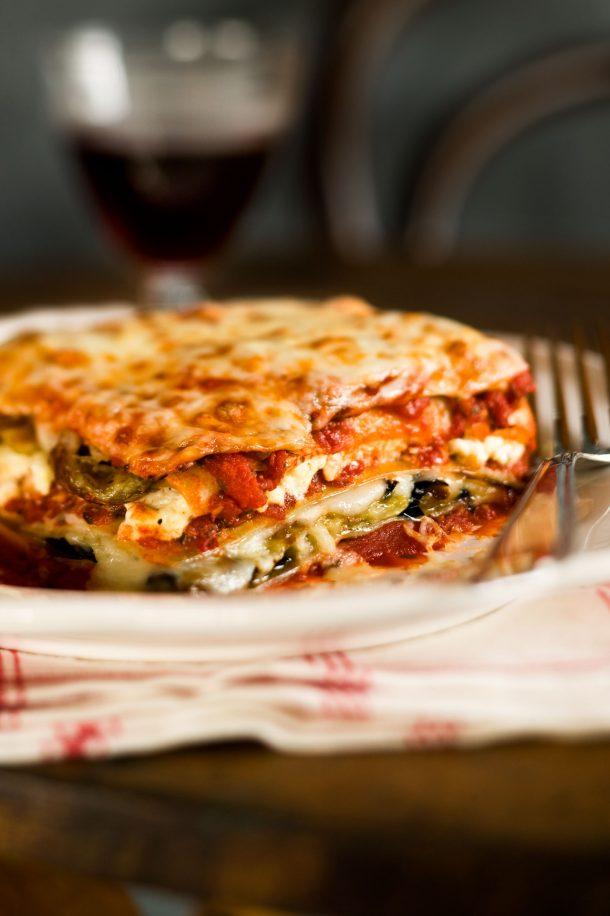 Lasagne aux aubergines et à la ricotta