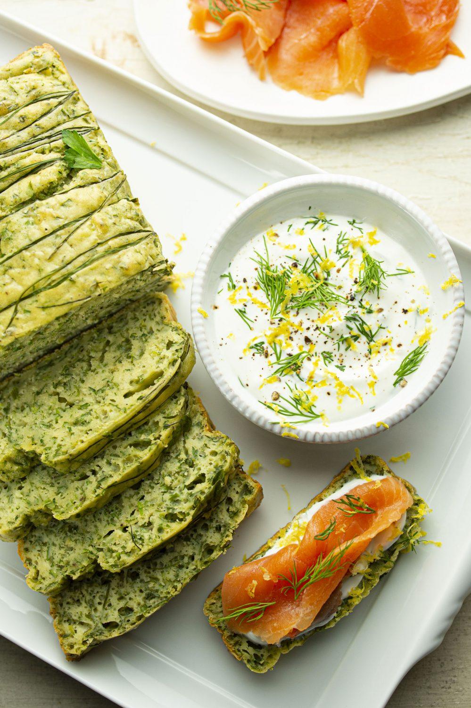 Cake aux herbes fraîches
