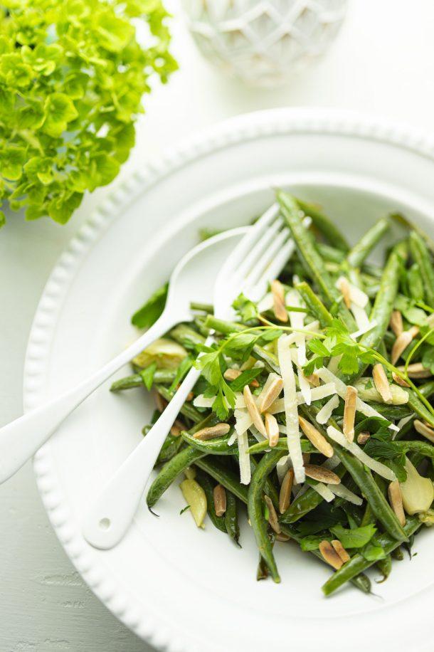 Salade de haricots verts et parmesan