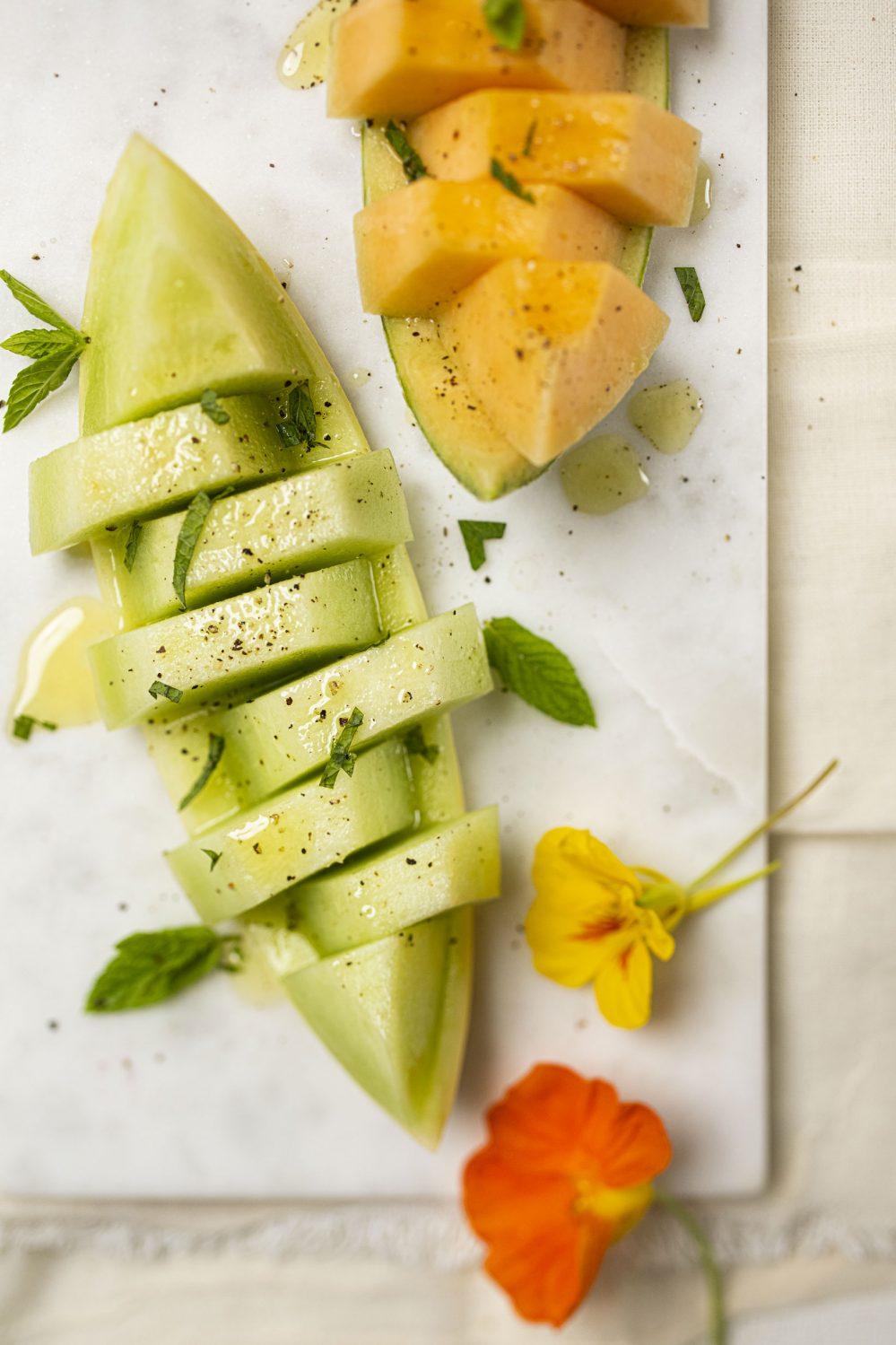 Melons vinaigrette
